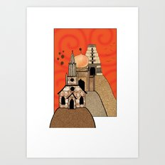 Three Hills Art Print