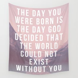 The World Cannot Exist Without You - Rebbe Nachman of Breslov Wall Tapestry