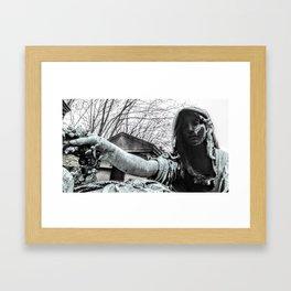B&W Photography, The Last Adieu. Framed Art Print