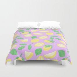 Lemon Pattern Violett Duvet Cover
