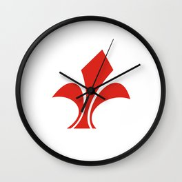 lille city flag france country symbol Wall Clock