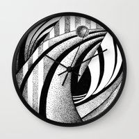 gravity Wall Clocks featuring GRAVITY by Fen_A