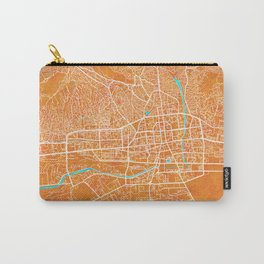 Ulaanbaatar, Mongolia, Gold, Blue, City, Map Carry-All Pouch