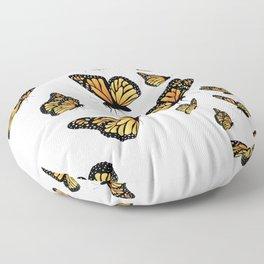 Monarch butterflies Floor Pillow