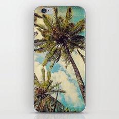 Vintage Blue Hawaii Palm Trees iPhone & iPod Skin