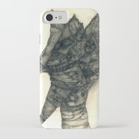 faces iPhone & iPod Cases featuring Faces by Attila Hegedus
