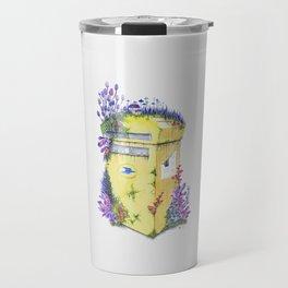 Growth on MailBox   Surrealistic Watercolor Painting by Stephanie Kilgast Travel Mug