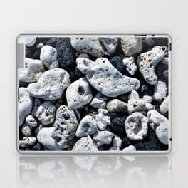 Black and White Rocks Mixed with Lava Rocks in Hawaii Laptop & iPad Skin