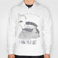 levi Hoodies featuring Wolf!Eren X Wolf!Levi by Midnight Zoe
