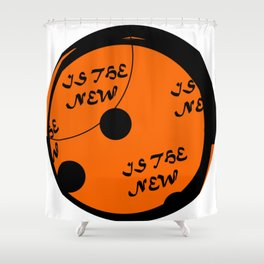 Round is the new black Shower Curtain
