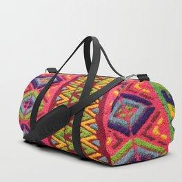 Colorful Guatemalan Alfombra Duffle Bag