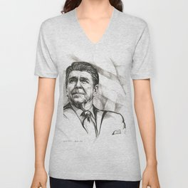 Ronald Reagan Unisex V-Neck