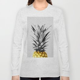 Gray and golden pineapple Long Sleeve T-shirt