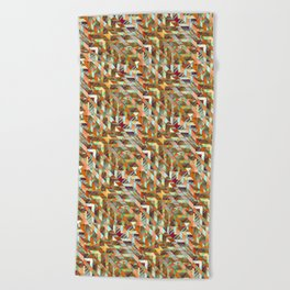 Geometric Quilt Beach Towel