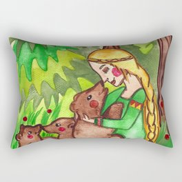 Mielikki and the bears Rectangular Pillow