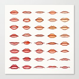 Lips II Canvas Print