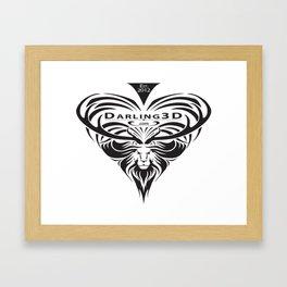 Darling3D Logo Framed Art Print