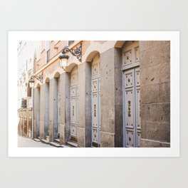 Pastel Passageway | Streets of Madrid | unique fine art travel prints | saige ash studio Art Print
