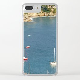 Boats in Villefranche Clear iPhone Case