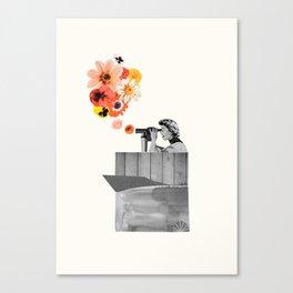 in bloom (black & white) Canvas Print