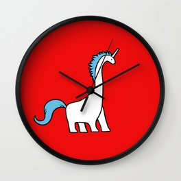Cute Dinocorn (Unicorn Brachiosaurus) Wall Clock