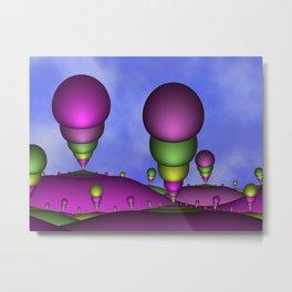 Fantasy Landscape Fractal Art Metal Print