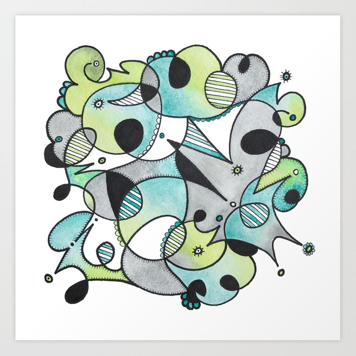 Abstract Critters Art Print