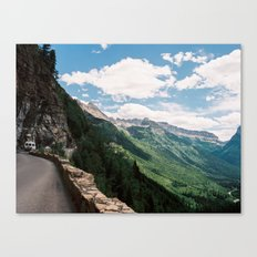 Going to the sun road  Canvas Print