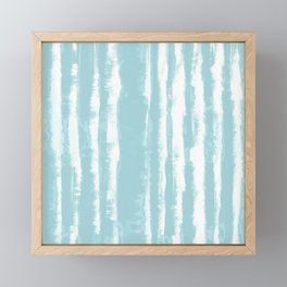 Shibori Stripe Seafoam Framed Mini Art Print