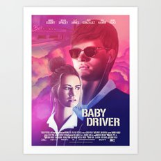 Baby Driver alternate movie poster Art Print