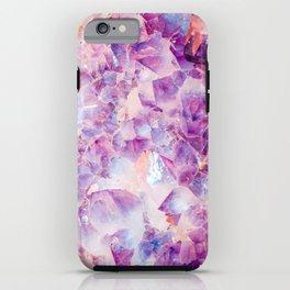 Amethyst Clusters, Amethyst, Crystal, Crystals, Purple, Gemstones, Gem, Gems, Rocks, Nature, Geode, iPhone Case