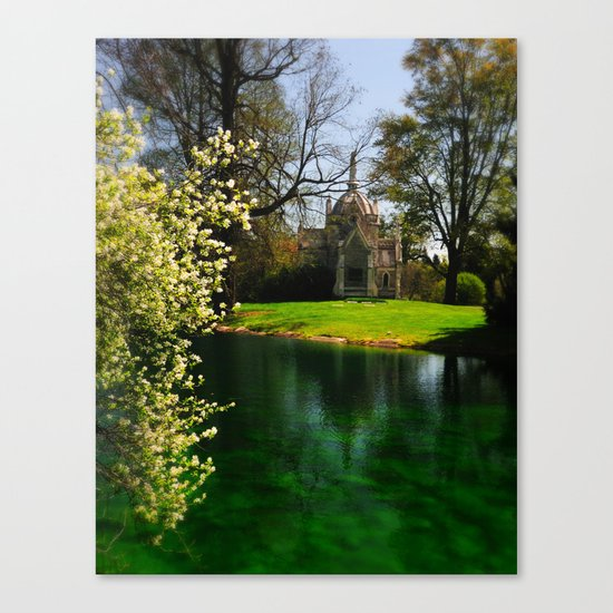 Chapel by the lake Canvas Print