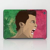 ronaldo iPad Cases featuring Cristiano Ronaldo by Pastran Designs