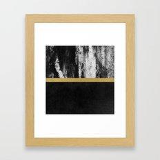 Golden Line / Black Framed Art Print