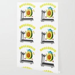 Cute & Funny Avo-Cardio Avocado Cardio Gym Pun Wallpaper