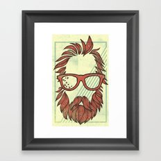Beard and Shades Framed Art Print