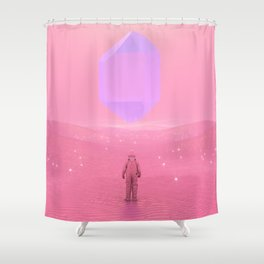 Lost Astronaut Series #03 - Floating Crystal Shower Curtain