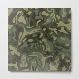 Camouflage pattern with CATS Metal Print