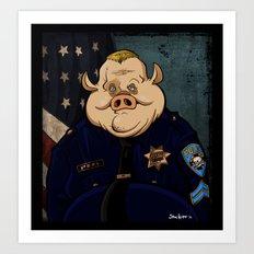 Officer Peel, Public Servant Art Print