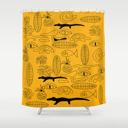 Crocodile Dream Shower Curtain