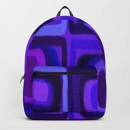 Violets in Blue Windows Backpack