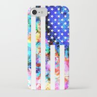usa iPhone & iPod Cases featuring USA by Bekim ART