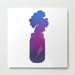 Galaxy Jellyfish - Gradient Metal Print