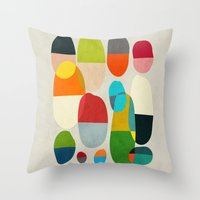 Throw Pillows featuring Jagged little pills by Picomodi