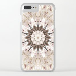 White Wave Clear iPhone Case