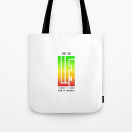 Life Use It Wisely Tote Bag