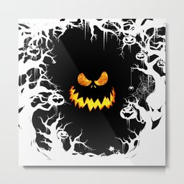 Nightmare Halloween Smile Jack Metal Print