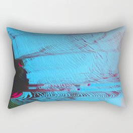 MEMORY MOSH - Glitch Art Print Rectangular Pillow