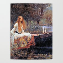 THE LADY OF SHALLOT - WATERHOUSE Poster