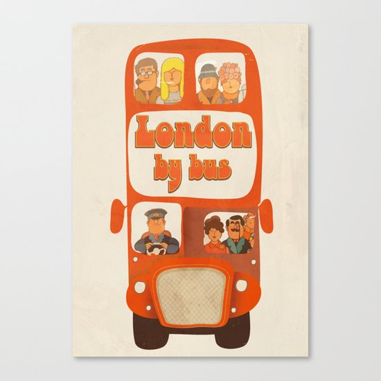 London By Bus Canvas Print